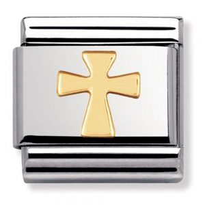 Drakes Jewellers Plymouth, Nomination , Gift For Her, yellow gold plated cross charm