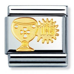 Drakes Jewellers Plymouth, Nomination , Gift For Her, yellow gold plate chalice charm