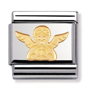 Drakes Jewellers Plymouth, Nomination , Gift For Her, yellow gold plated angel