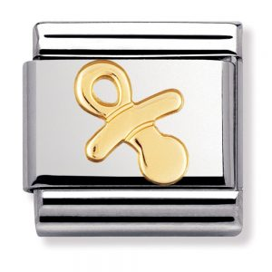 Drakes Jewellers Plymouth, Nomination , Gift For Her, yellow gold pacifier charm