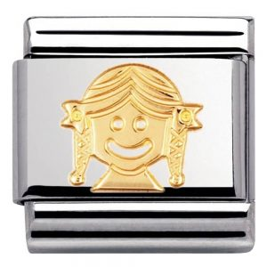 Drakes Jewellers Plymouth, Nomination , Gift For Her, yellow gold girl charm