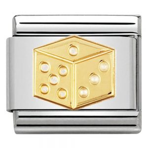 Drakes Jewellers Plymouth, Nomination , Gift For Her, yellow gold dice charm
