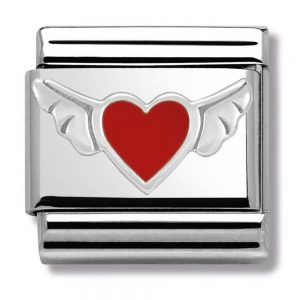 Drakes Jewellers Plymouth, Nomination , Gift For Her, silver heart wing charm