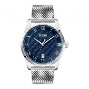 Drakes Jewellers Plymouth, Hugo Boss, Hugo Boss Watches, Gift For Him, Watches, Silver and navy watch