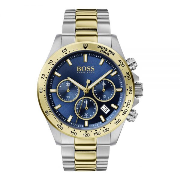 Drakes Jewellers Plymouth, Hugo Boss, Hugo Boss Watches, Gift For Him, Watches, Silver and yellow gold watch