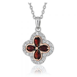 Drakes Jewellers Plymouth, Clogau Jewellery, Gift For Her, red tudor necklace