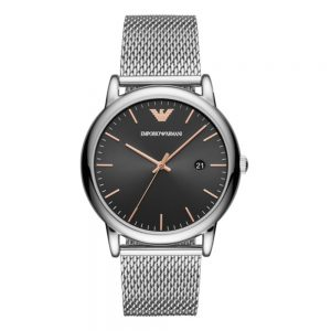 Drakes Jewellers Plymouth, Emporio Armani Watch, Gift For Him, mesh strap black watch