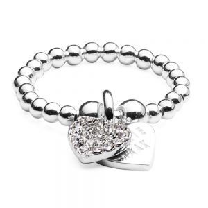 Drakes Jewellers Plymouth, Annei Haak, Gift For Her, Annie Haak Jewellery, Silver crystal heart ring