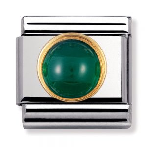 Drakes Jewellers Plymouth, Nomination Charm, gift for her, green agate charm