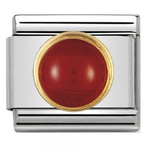 Drakes Jewellers Plymouth, Nomination Charm, gift for her, round red agate Charm