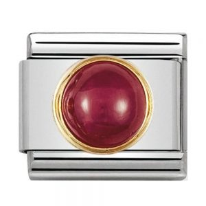 Drakes Jewellers Plymouth, Nomination Charm, gift for her, round ruby charm