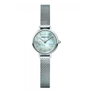 Drakes Jewellers Plymouth, bering watches, gift for him, watches for him, bering jewellery, mother of pearl mesh charm