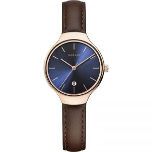 Drakes Jewellers Plymouth, bering watches, gift for him, watches for him, bering jewellery, gift for her, brown leather watch