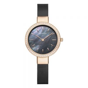 Drakes Jewellers Plymouth, bering jewellery, womens watches, gift for her, oxidised mesh watch