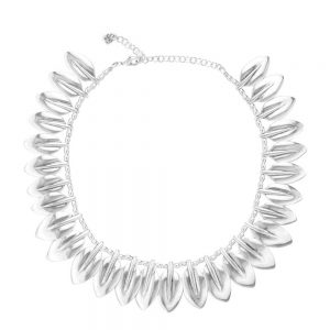 Drakes Jewellers Plymouth, Uno De 50, Gift For Her, Womens jewellery, silver leaf collar