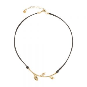 Drakes Jewellers Plymouth, Uno De 50, Gift For Her, Womens jewellery, leather leaf necklace
