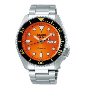 Drakes Jewellers Plymouth, Seiko Watch, Mens Watches, Gift For Him, silver and orange headband