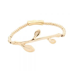 Drakes Jewellers Plymouth, Uno De 50, Gift For Her, Womens jewellery, gold leaf braceet