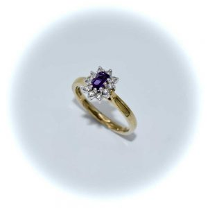 Diamond and Amethyst Ring, Diamond Ring, Drakes Jewellers, Plymouth