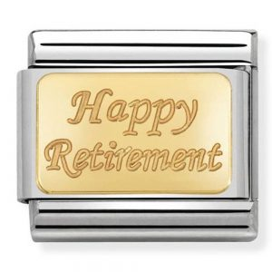 Drakes Jewellers Plymouth, Nomination Jewellery, Nomination Charm, Gift For Her, happy retirement charm