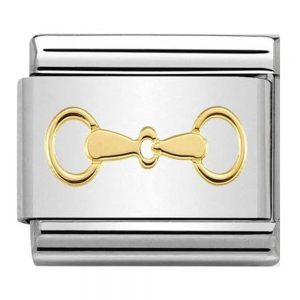 Drakes Jewellers Plymouth, Nomination Jewellery, Nomination Charm, Gift For Her, yellow gold snaffle charm
