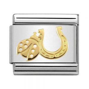 Drakes Jewellers Plymouth, Nomination Jewellery, Nomination Charm, Gift For Her, horseshoe ladybug charm