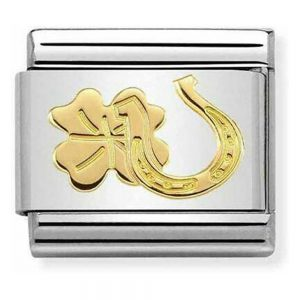 Drakes Jewellers Plymouth, Nomination Jewellery, Nomination Charm, Gift For Her, horseshoe clover charm