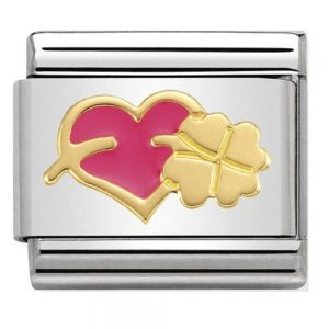 Drakes Jewellers Plymouth, Nomination Jewellery, Nomination Charm, Gift For Her, heart clover charm