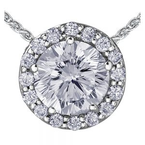 Drakes Jewellers Plymouth, Diamond Gift, Gift For Her, Special Occasion Gift, round diamond pendant