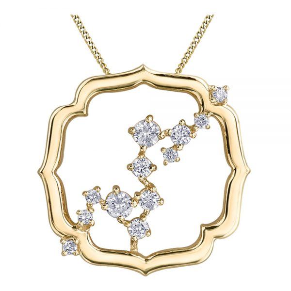 Drakes Jewellers Plymouth, Diamond Gift, Gift For Her, Special Occasion Gift, yellow gold fancy necklace pendant