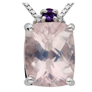 Drakes Jewellers Plymouth, Diamond Gift, Gift For Her, Special Occasion Gift, pink amethyst necklace