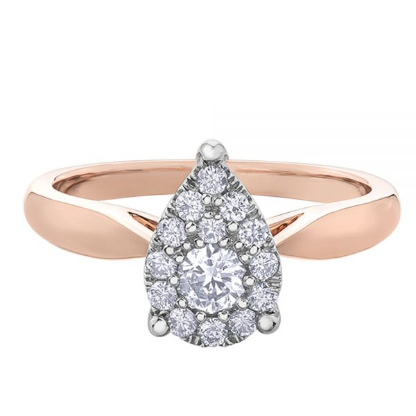 Drakes Jewellers Plymouth, Diamond Gift, Gift For Her, Special Occasion Gift, pear ring