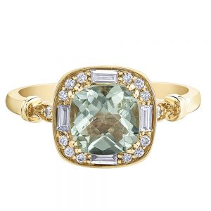 Drakes Jewellers Plymouth, Diamond Gift, Gift For Her, Special Occasion Gift, yellow gold amethyst ring