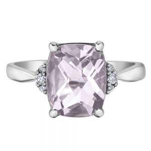 Drakes Jewellers Plymouth, Diamond Gift, Gift For Her, Special Occasion Gift, pink amethyst diamond ring