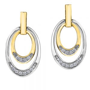 Drakes Jewellers Plymouth, Diamond Gift, Gift For Her, Special Occasion Gift, yellow gold oval hoop earrings