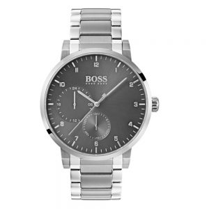 Drakes Jewellers Plymouth, Hugo Boss jewellery, Hugo Boss Watches, Gift For Him, Watches, Silver grey watch