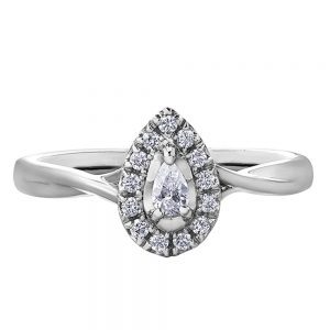 Drakes Jewellers Plymouth, Diamond Gift, Gift For Her, Special Occasion Gift, diamond pear ring