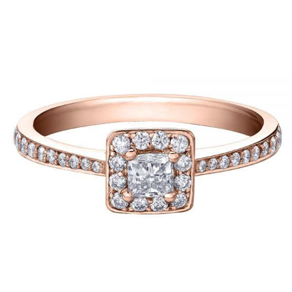 Drakes Jewellers Plymouth, Diamond Gift, Gift For Her, Special Occasion Gift, Rose gold square ring