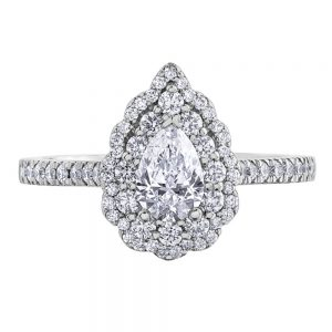 Drakes Jewellers Plymouth, Diamond Gift, Gift For Her, Special Occasion Gift, engagement ring, white gold pear ring