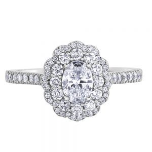 Drakes Jewellers Plymouth, Diamond Gift, Gift For Her, Special Occasion Gift, engagement ring, oval halo ring