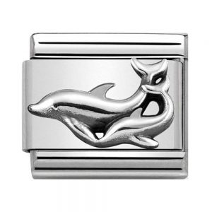 Drakes Jewellers Plymouth, Nomination Jewellery, Nomination Charm, Gift For Her, dolphin silver charm