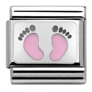 Drakes Jewellers Plymouth, Nomination Jewellery, Nomination Charm, Gift For Her, pink footprint charm
