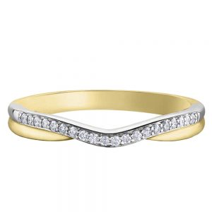 Drakes Jewellers Plymouth, Diamond Gift, Gift For Her, Special Occasion Gift, yellow gold wish bone ring
