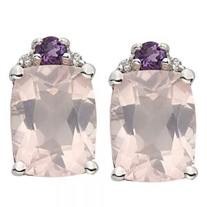 Drakes Jewellers Plymouth, Diamond Gift, Gift For Her, Special Occasion Gift, Amethyst stud earrings