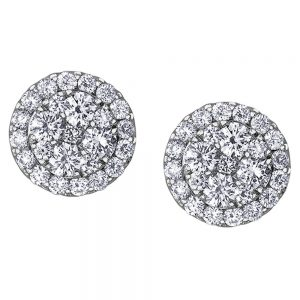 Drakes Jewellers Plymouth, Diamond Gift, Gift For Her, Special Occasion Gift, circle stud earrings