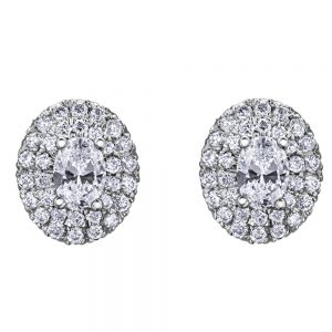 Drakes Jewellers Plymouth, Diamond Gift, Gift For Her, Special Occasion Gift, oval diamond earrings