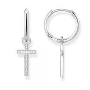 Drakes Jewellers Plymouth, Thomas Sabo Jewellery, Gift For Her, Gift For Him, silver cross drop earrings