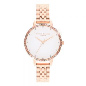 Drakes Jewellers Plymouth, Olivia Burton Watches, Gift For Her, Olivia Burton Jewellery, rose gold mesh bow watch