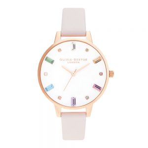Drakes Jewellers Plymouth, Olivia Burton Watches, Gift For Her, Olivia Burton Jewellery, pink leather colour watch