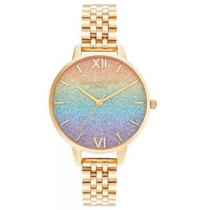 Drakes Jewellers Plymouth, Olivia Burton Watches, Gift For Her, Olivia Burton Jewellery, rainbow gold watch